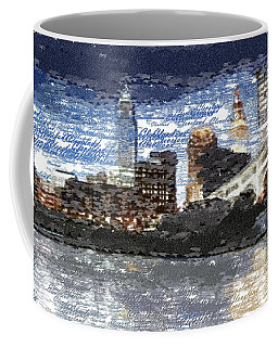 Cleveland Skyline - Typography Coffee Mug