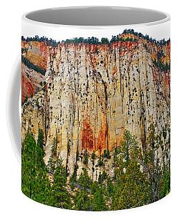 Cliffs Near Checkerboard Mesa Along Zion-mount Carmel Highway In Zion National Park-utah Coffee Mug