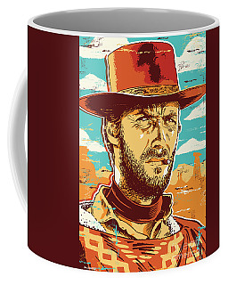 Clint Eastwood Pop Art Coffee Mug