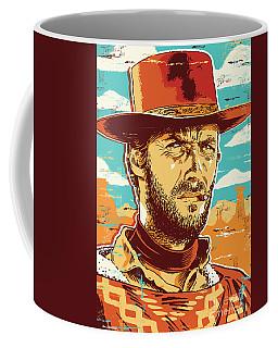 Clint Eastwood Pop Art Coffee Mug by Jim Zahniser