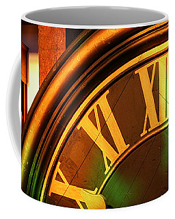 Coffee Mug featuring the photograph Clocks by William Selander