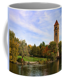 Clocktower And Autumn Colors Coffee Mug