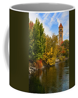 Clocktower In Fall Coffee Mug