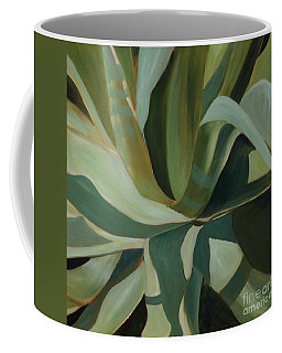Coffee Mug featuring the painting Close Cactus by Debbie Hart