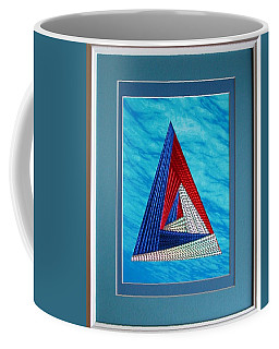 Coffee Mug featuring the mixed media Close Encounter by Ron Davidson
