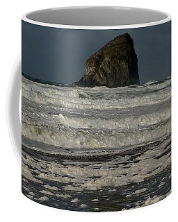 Coffee Mug featuring the photograph Close Haystack Rock by Susan Garren