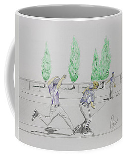 Close Play At First Coffee Mug by Chris Thomas