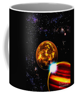 Coffee Mug featuring the photograph Close Together Far Apart by Naomi Burgess