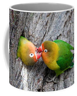 Close-up Of A Pair Of Lovebirds, Ndutu Coffee Mug