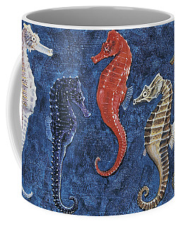 Close-up Of Five Seahorses Side By Side  Coffee Mug