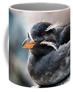 Close-up Of Rhinoceros Auklet Coffee Mug