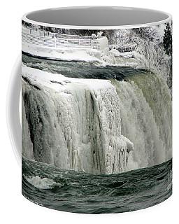 Coffee Mug featuring the photograph Closeup Of Icy Niagara Falls by Rose Santuci-Sofranko