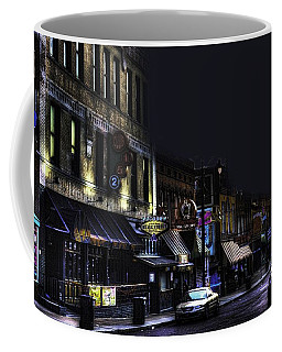 Memphis - Night - Closing Time On Beale Street Coffee Mug