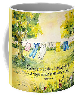 Clothesline Psalm 51 Coffee Mug