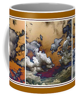 Coffee Mug featuring the photograph Cloud Abstract In Triptych by Glenn McCarthy Art and Photography