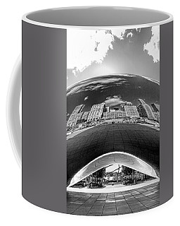 Cloud Gate Under The Bean Black And White Coffee Mug
