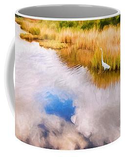Cloud Reflection In Water Digital Art Coffee Mug by Vizual Studio