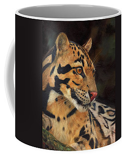 Clouded Leopard Coffee Mug by David Stribbling