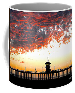 Coffee Mug featuring the photograph Clouds On Fire by Margie Amberge