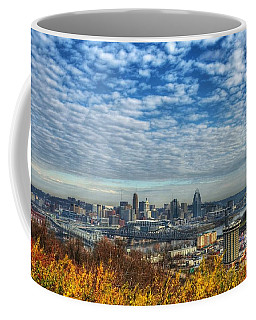 Coffee Mug featuring the photograph Clouds Over Cincinnati by Mel Steinhauer