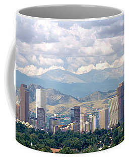 Clouds Over Skyline And Mountains Coffee Mug