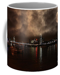 Clouds Over The River Thames Coffee Mug by Doc Braham