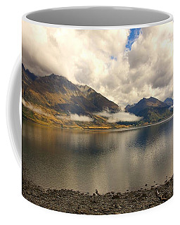 Coffee Mug featuring the photograph Clouds Over Wakatipu #1 by Stuart Litoff