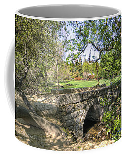Coffee Mug featuring the photograph Clover Valley Park Bridge by Jim Thompson