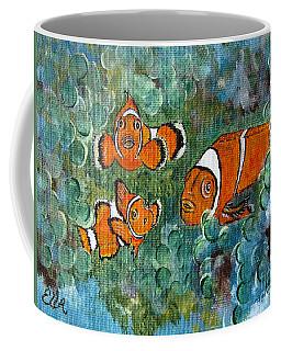 Clown Fish Art Original Tropical Painting Coffee Mug