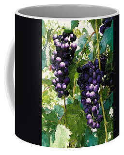 Clusters Of Red Wine Grapes Hanging On The Vine Coffee Mug