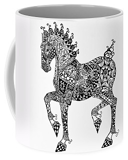 Clydesdale Foal - Zentangle Coffee Mug