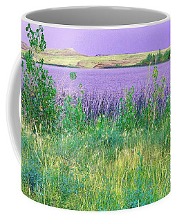 Coffee Mug featuring the digital art Coal Creek Reservoir Oil by Aliceann Carlton