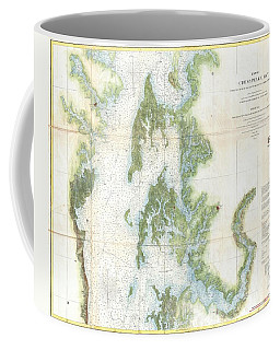 Coast Survey Chart Or Map Of The Chesapeake Bay Coffee Mug