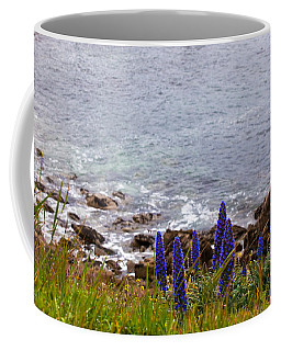 Coastal Cliff Flowers Coffee Mug