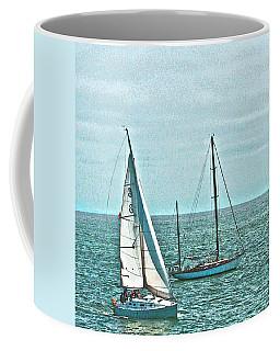 Coastal Sail Boats Coffee Mug