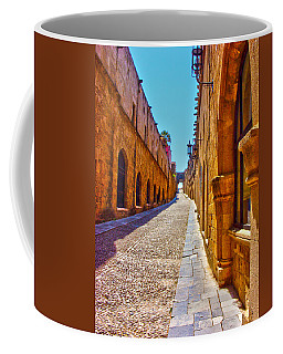 Rhodes Cobbled Street Coffee Mug