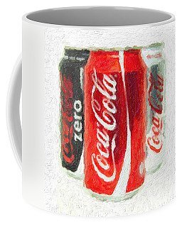 Coca Cola Art Impasto Coffee Mug