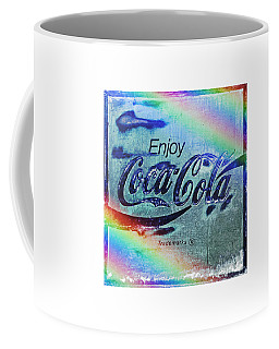 Coca Cola Rainbow Coffee Mug by John Stephens