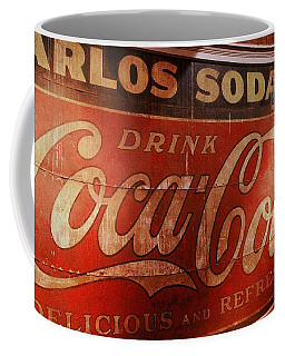 Coffee Mug featuring the photograph Coca Cola Sign by Rodney Lee Williams