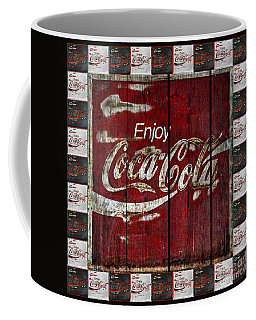 Coca Cola Sign With Little Cokes Border Coffee Mug by John Stephens