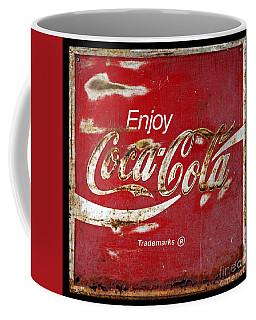 Coca Cola Vintage Rusty Sign Coffee Mug