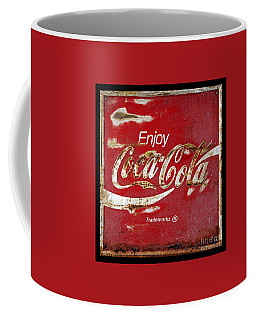 Coca Cola Vintage Rusty Sign Coffee Mug