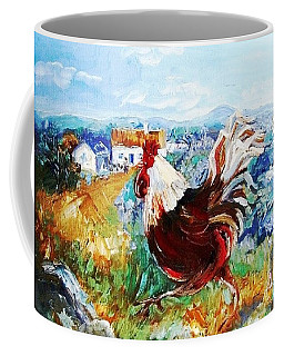 Coffee Mug featuring the painting Cockerel By The Beach  by Trudi Doyle