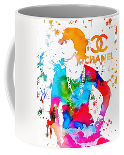 Coco Chanel Paint Splatter Coffee Mug