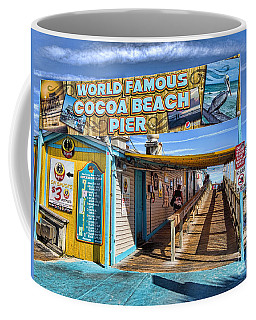 Cocoa Beach Pier In Florida Coffee Mug by David Smith