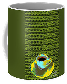Coffee Mug featuring the digital art Coffee Cup Pop Art by Jean luc Comperat