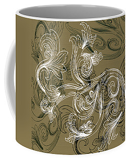 Coffee Flowers 2 Olive Coffee Mug