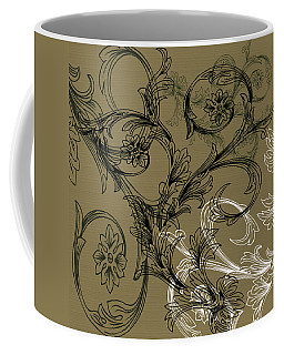 Coffee Flowers 3 Olive Coffee Mug
