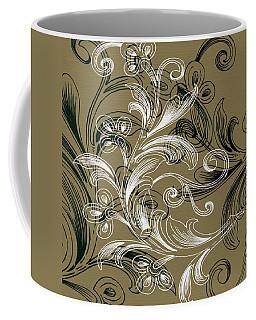 Coffee Flowers 4 Olive Coffee Mug