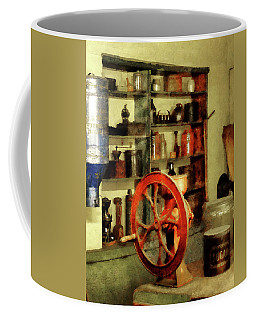 Coffee Mug featuring the photograph Coffee Grinder And Canister Of Sugar by Susan Savad